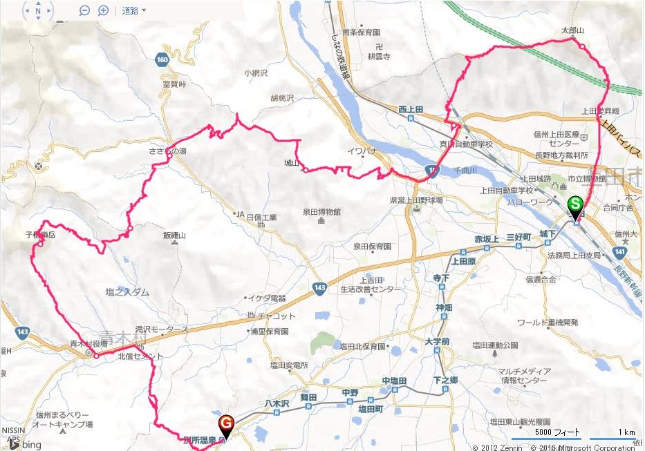 20131221ツールド上田試走_セクション1-3・別所峠ショートカット