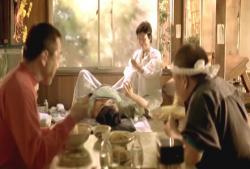 食堂で出産