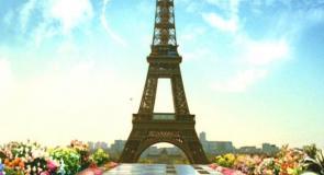 パリのエッフェル塔に上り