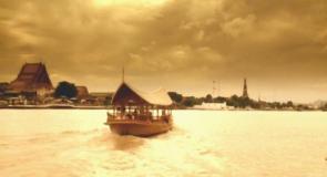 二人を乗せた一艘の舟