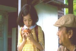 ザクロを食べる少女時代の倫子