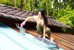 自分で屋根のペンキ塗り
