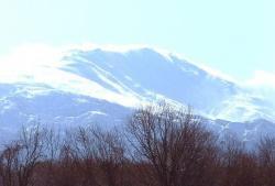 雪化粧の山