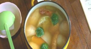 千秋が作った野菜スープ