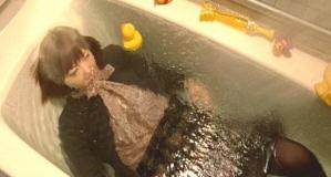 浴槽でぶくぶく・・