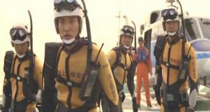 救助の覚悟を決める海猿たち