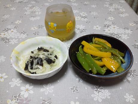 たまねぎと海苔のサラダ (1)