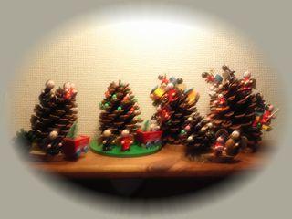 大王松でクリスマスツリー