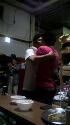 青野さんとマサさんのキス