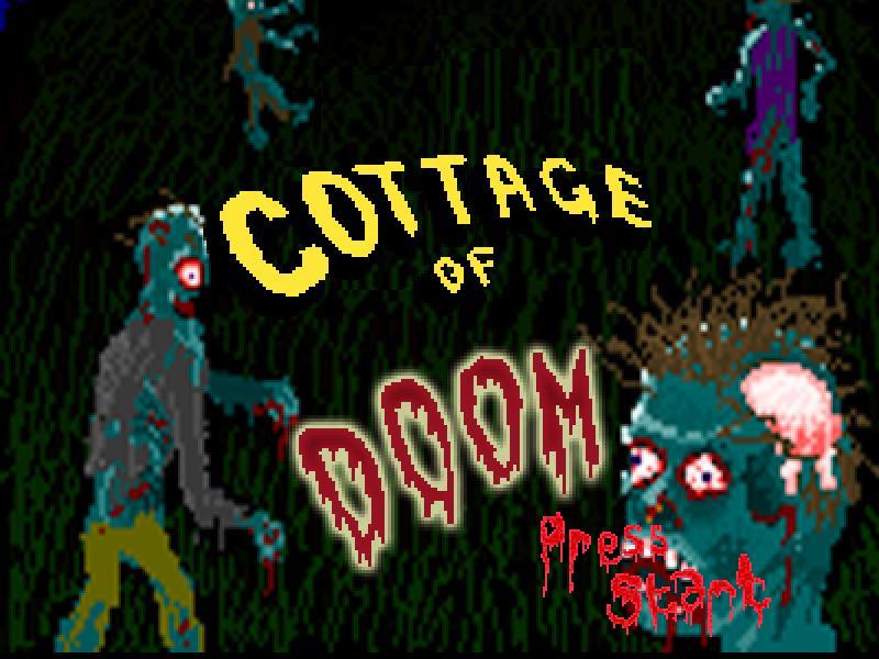 Cottage Of Doom,フリーゲーム,ゾンビ,タイトル