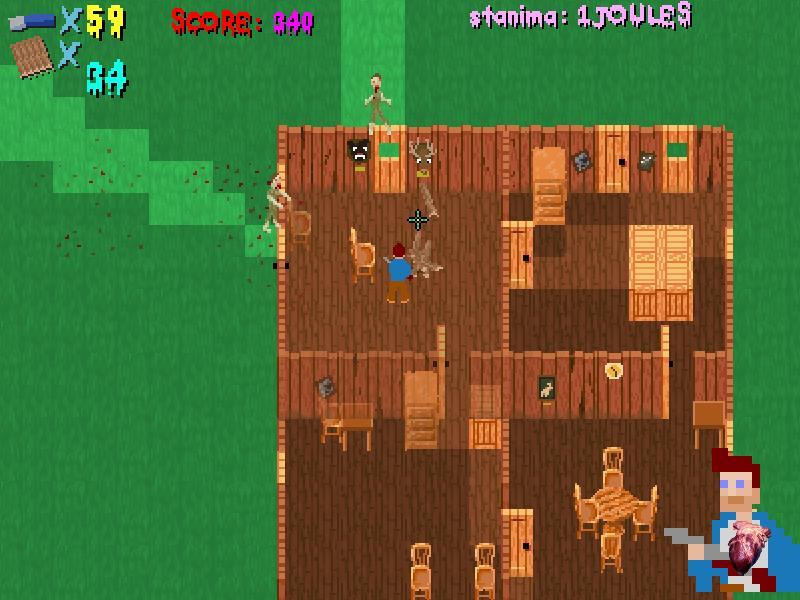 Cottage Of Doom,フリーゲーム,ゾンビ,家具破壊