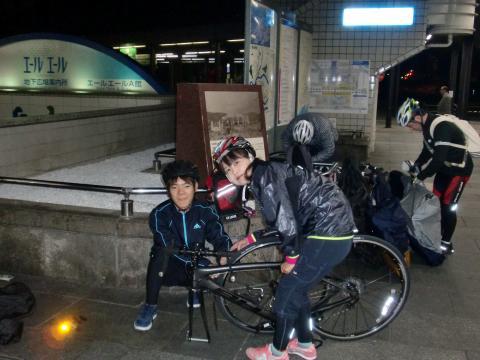 広島駅で輪行・・・