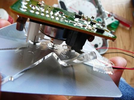 メーター中央針LED化