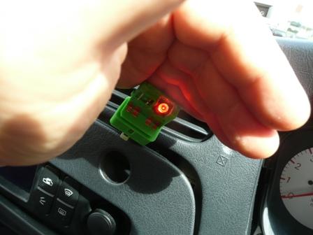 ハザードスイッチ LED 確認