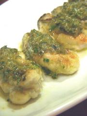 牡蠣のバジル焼き_サム