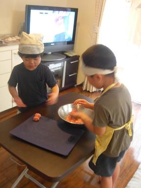 ハンバーグ製作