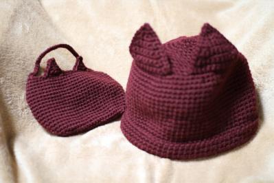 帽子とちびバッグ