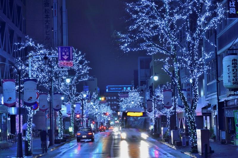 松本雪景色