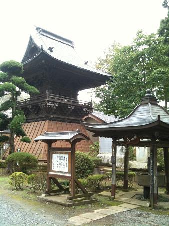 日本寺鐘楼と身代り観音さん
