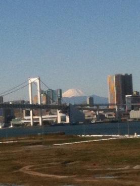 お台場で富士山