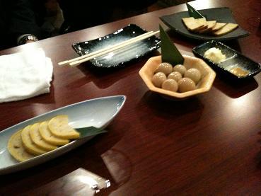 レンコン、うずら、豆腐