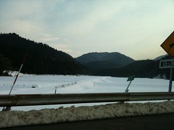 多賀付近の雪
