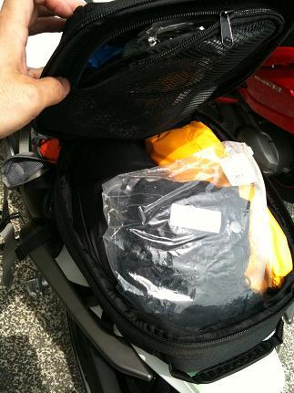 シートバッグパッキング