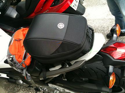 シートバッグ装着例