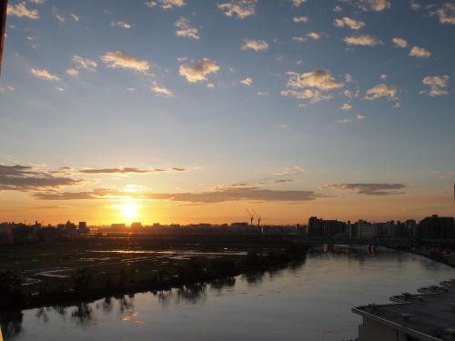 台風一過、翌朝の風景110922