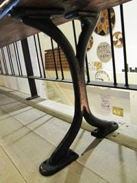 英国製 ベンチ 木製 アイアン 店舗什器 ディスプレイ