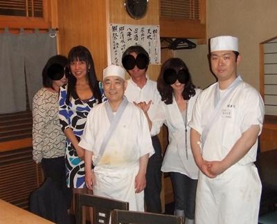 お寿司屋さんでパチリ