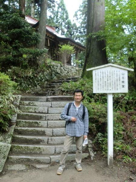 比叡山の西塔へと向かう私