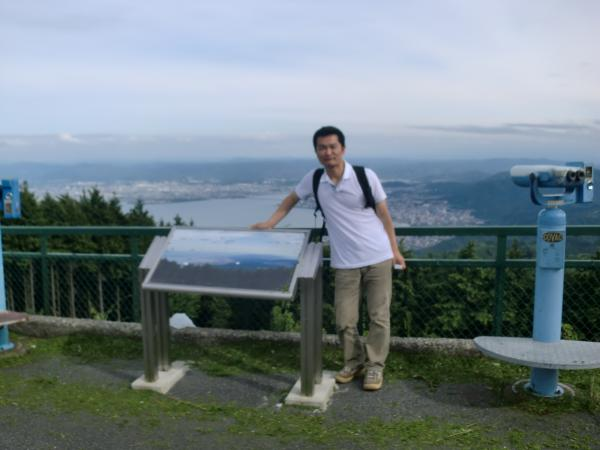 比叡山頂の私