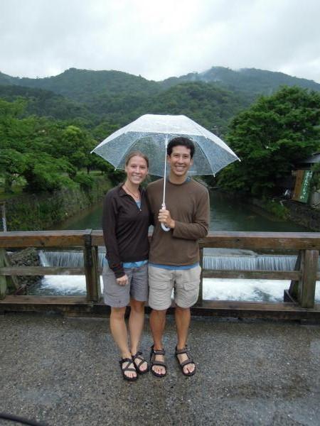 カウチサーフィン(アメリカ、マットとエリカ)、嵐山