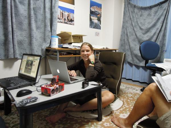 カウチサーフィン(アメリカ、エリカ)、私の部屋