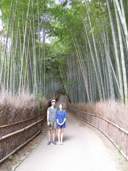 カウチサーフィン(アメリカ、ジャスティンとジェニファー)、京都・嵐山の竹林
