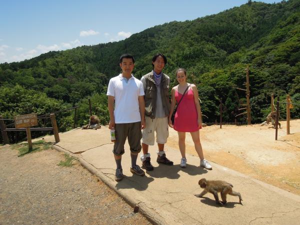 カウチサーフィン(アメリカ、エイミーとダレル)、嵐山のモンキーパーク