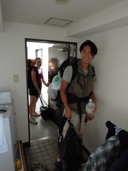 カウチサーフィン(アメリカ、エイミーとダレル)、出発