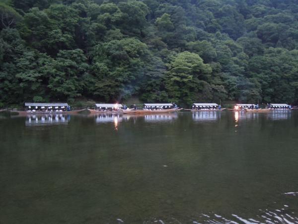 京都、嵐山の鵜飼い