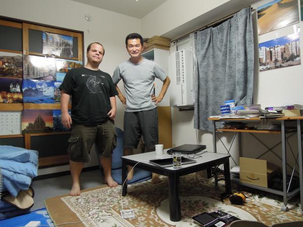 カウチサーフィン(アメリカ、ブラッド)、我が家にて