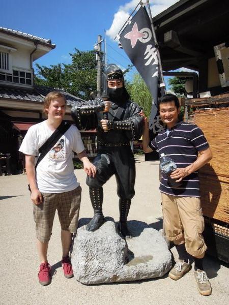 カウチサーフィン(フィンランド、ヴィレ)、忍者と私と