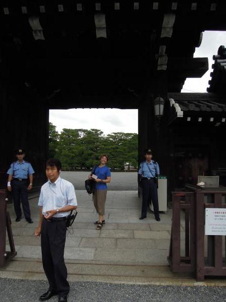 カウチサーフィン(ドイツ、グドラン)、京都御所の入り口