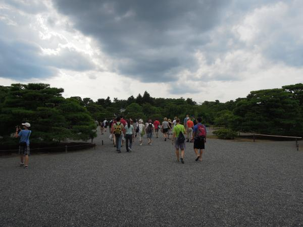 京都御所の外人達