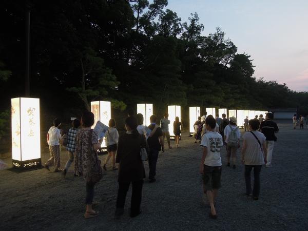 京の七夕(堀川会場)、二条城の中の行燈