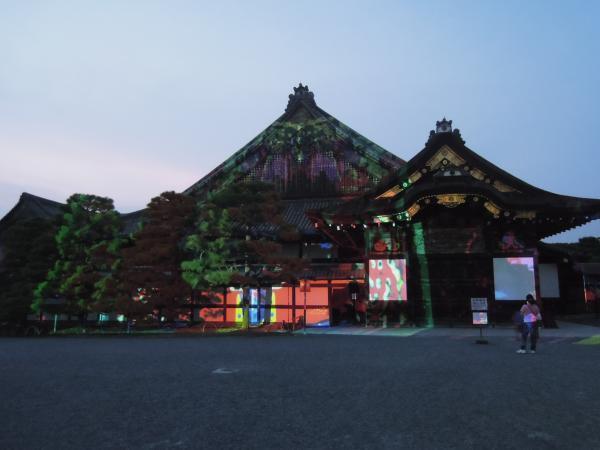 京の七夕(堀川会場)、二条城ライトアップ・その1