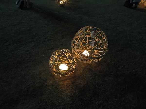 京の七夕・鴨川会場、光のオブジェ・その2