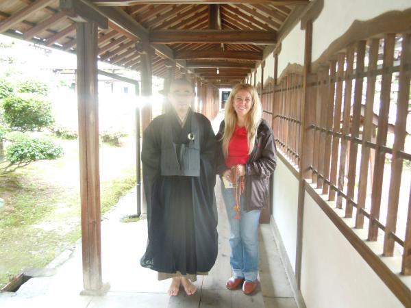 カウチサーフィン(ブラジル、レジーナ)、興聖寺の住職さんと。