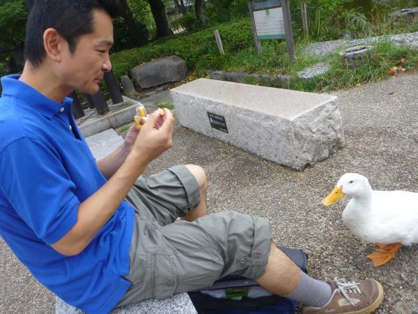 私。円山公園にて。