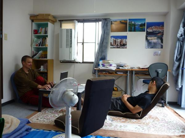 カウチサーフィン(チェコ共和国、ミハエル(スロバキア))、私の部屋にて。