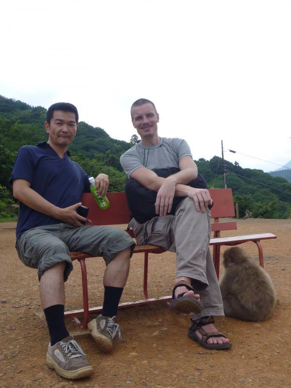 カウチサーフィン(チェコ共和国、ミハエル(スロバキア)と私とお猿さんと